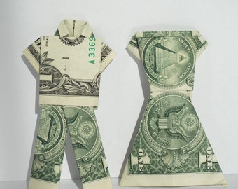 Dollar Bill Origami Bride and Groom
