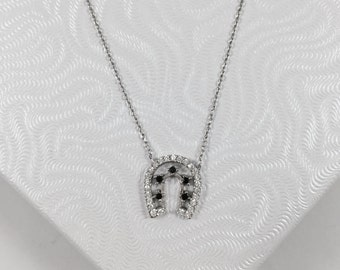 Silver Horseshoe Lucky Charm Necklace