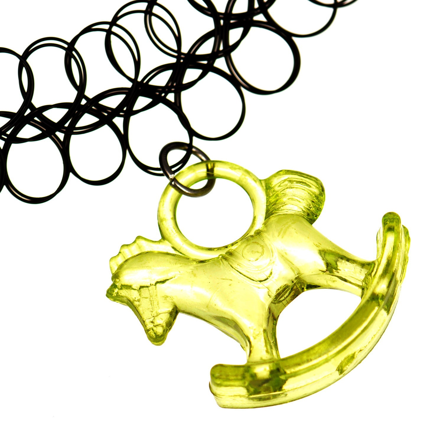 green acrylic rocking horse pony donkey charm by jewelleryoflords. Black Bedroom Furniture Sets. Home Design Ideas