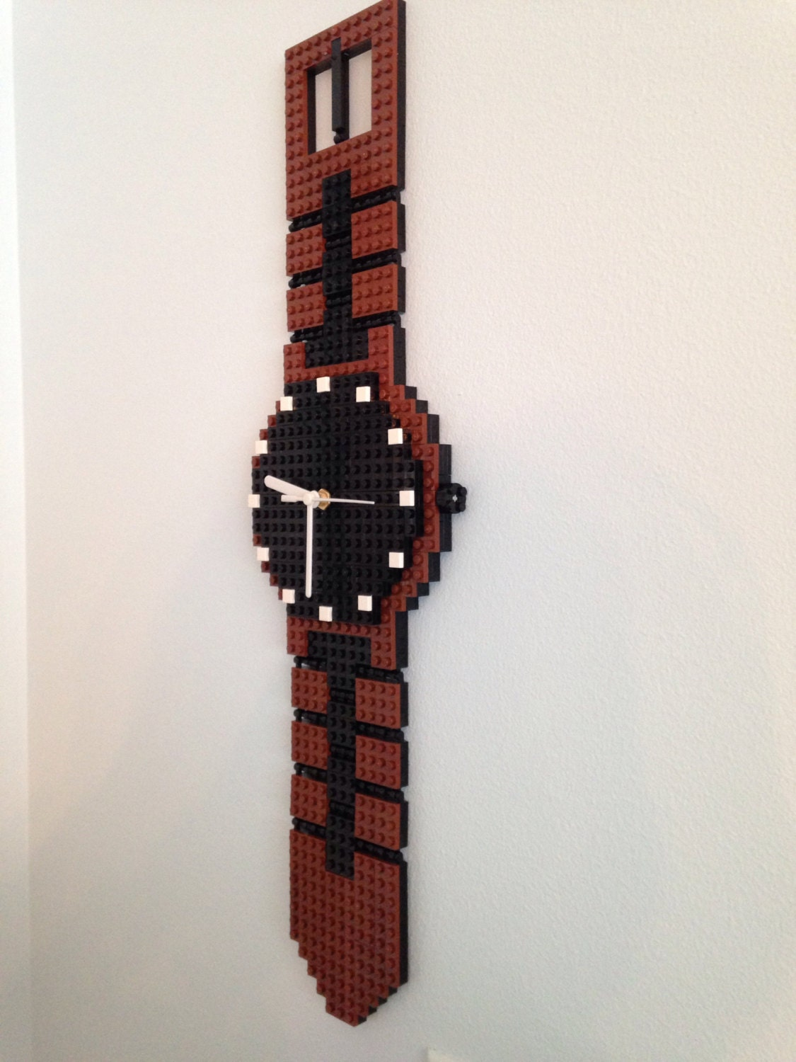 Watch wall clock made of legos zoom amipublicfo Choice Image