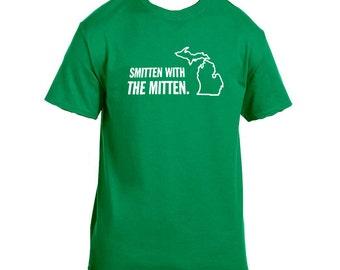Smitten with the mitten! Custom handmade michigan inspired t-shirt