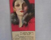 Vintage 1936 Calendar Blotter Advertising Curtis Printing Co. La Crosse, WI Artist Signed Beautiful Woman