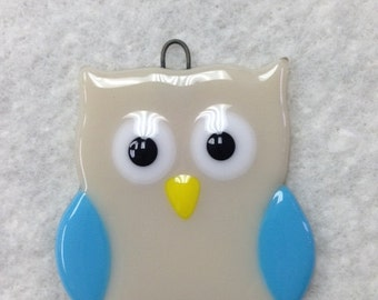 Owl Fused Glass Ornament