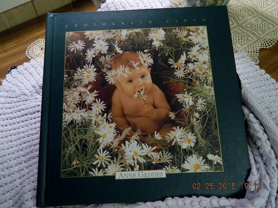 vintage photo album anne geddes baby photo album photograph. Black Bedroom Furniture Sets. Home Design Ideas