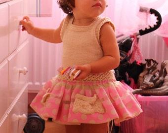 "Dress girls. Point. Handmade. cotton and fabric. ""Sylvia Marie"""