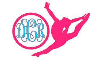 Gymnastics Monogram Decal