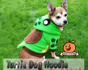 Dog Turtle Hoodie Costume MED-XL Pdf Pattern and full tutorial