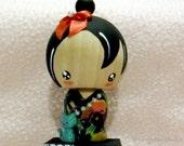 note photo holder kokeshi doll Japanese doll decoration display - kanoaki