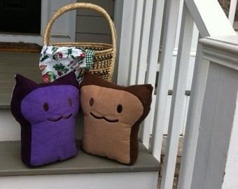 Peanut Butter and Jelly BreadCat Pillows