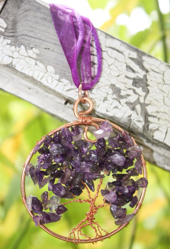 OOAK Amethyst Loaded Tree of Life Pendant
