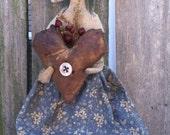 Primitive Pilgrim Doll Early Style Harvest Folk Art