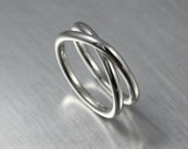 Eternity Ring, Minimalist Jewelry, Simple Infinity Ring, Sterling Silver