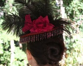 Winged Decadence Victorian Riding hat - Gothic Steampunk - Ready to Ship