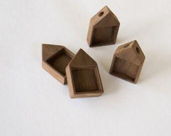 Unfinished NEAT Pendant Blanks - Walnut Wood - 19 mm - (UH419-W) - Set of 4