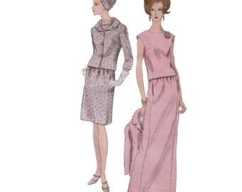 60s Vogue Special Design Jacket pattern 36-28-38 madmen Maxi Skirt Tailored Suit vogue 6889