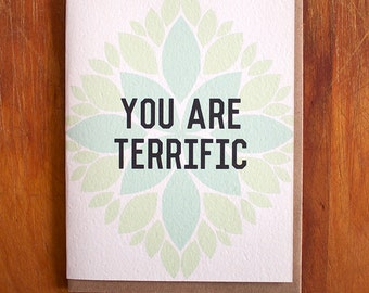 You are Terrific