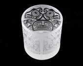 Thunderbird Lowball DOF Tumbler Glass - Frosted Glassware - Custom Etched Barware