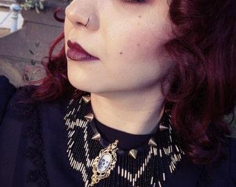 Mourning Jewelry - Au revoir neckpiece - Victorian Style