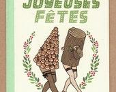 Joyeuses Fêtes / Happy Holidays Dancing Dessert Card