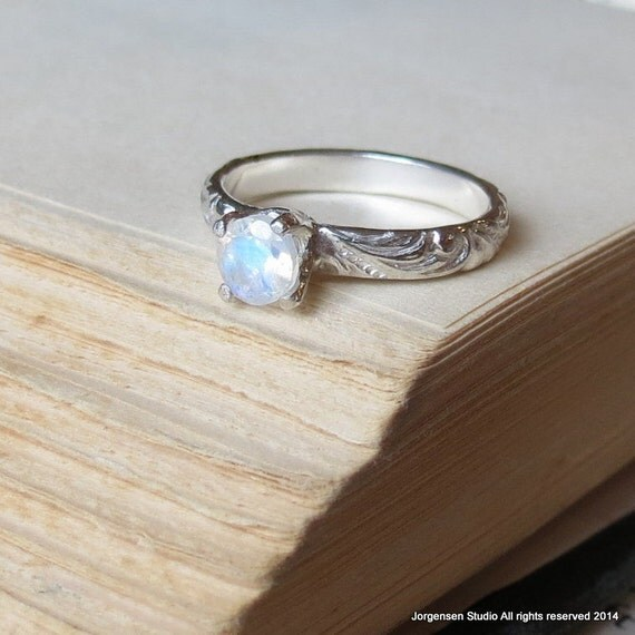 Rainbow Moonstone Ring In Sterling Silver Alternative