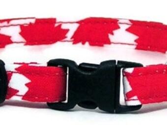 Cat Collar - O Canada - Breakaway Safety Cute Fancy Cat Kitten Collar