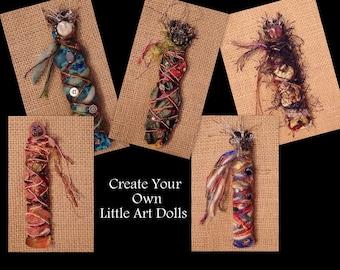 Mini Art Doll Making Kit - Create Your Own Art Dolls - Goddess /Muse/Dream/Healing Doll