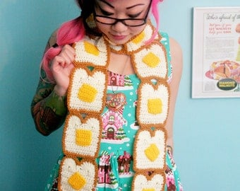 Buttered Toast Scarf - Made to Order