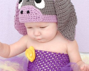 Donkey Hat Crochet Pattern for Making a Crochet Little Donkey Hat for Baby and Children Photo Prop PDF