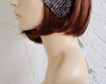 hand knit bandana kerchief  ~ gypsy spirit rib knit ~  8 koromo