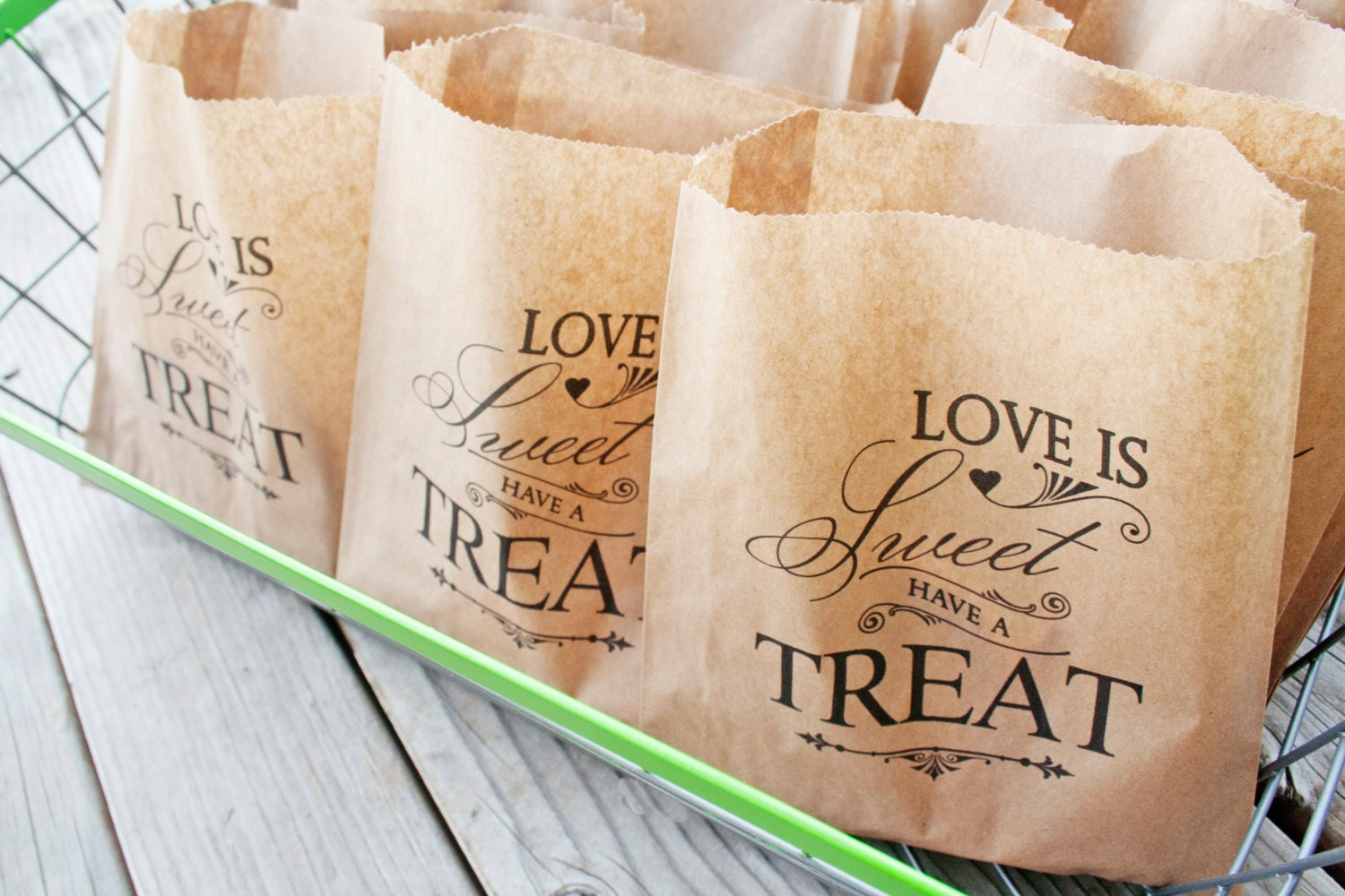 Wedding Cookie Favor Bag Love Is Sweet Have A Treat By Mavora