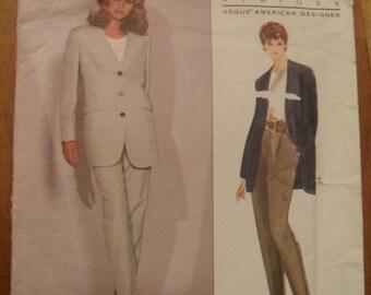 Vintage Vogue 2918 Pattern - Donna Karan -  Jacket and Pants -  American Desiger