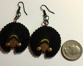 Afrocentric Jewelry, Fashion, Wooden, Earrings