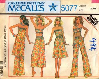 McCall's 5077 Summer Strapless Wardrobe VINTAGE ©1976