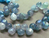 Variegated Blue Fluorite Onions with Touches of AB