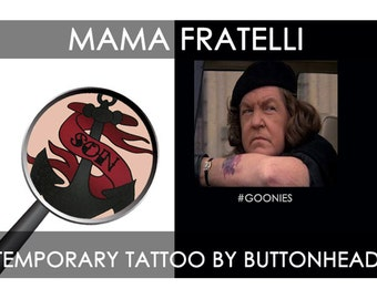 The Goonies Mama Fratelli Halloween Costume Tattoo 1980s