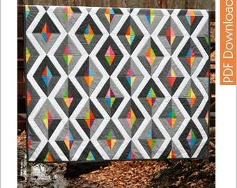 Modern Quilt Pattern - Prism - PDF