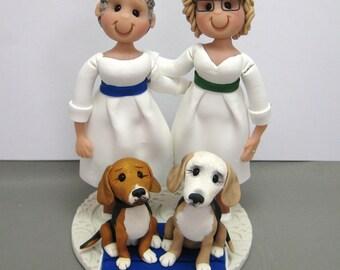 DEPOSIT for Custom made Same Sex Polymer Clay Wedding Cake Topper decoration