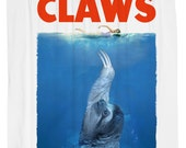 CLAWS Shower Curtain, JAWS, Sloth, Printed in USA
