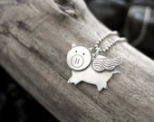 When Pigs Fly Pendant Necklace - Ps Artisan Jewelry