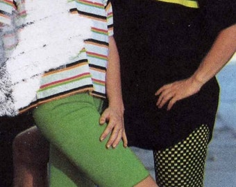 Adults bike shorts Cycling jogging Athletic wear Stretch knits Active fashion sewing pattern Simplicity 9570 Size XS to XL UNCUT