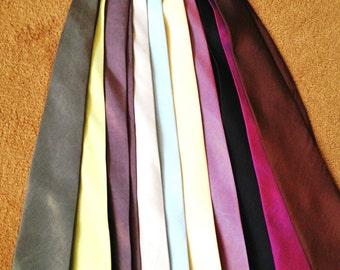 Silk Necktie LOT of 11 VIntage Ties