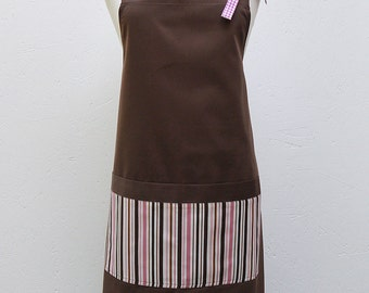 Audrey Apron : Pink Stripes