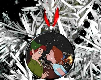 Peter Pan & Wendy Kiss Ornament