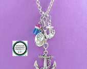 "Anchor 30"" Long Charm Necklace Delta Gamma OFFICIALLY LICENSED VENDOR"