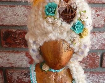 OOAK Handmade Marie Antionette Mannequin Doll Shrine