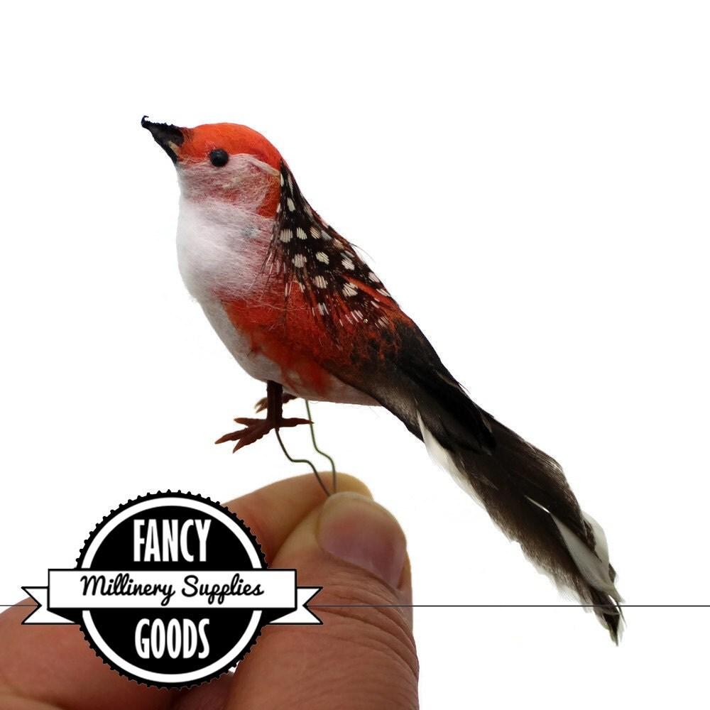 1 small orange craft bird fake bird artificial bird for Fake birds for crafts