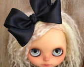 dolly molly BLACK bow for blythe doll girls