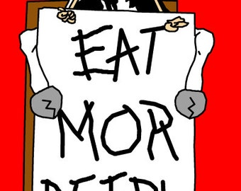 Eat More People - Mutant Cow Monster Print
