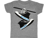 KIDS San Francisco Converse - Childrens T-shirt Tee Shirt SF Indie Hipster Toddler Youth West Coast California Bay Area Shirt Gray Tshirt