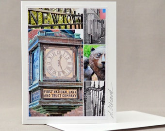 NEWTOWN PA collage card